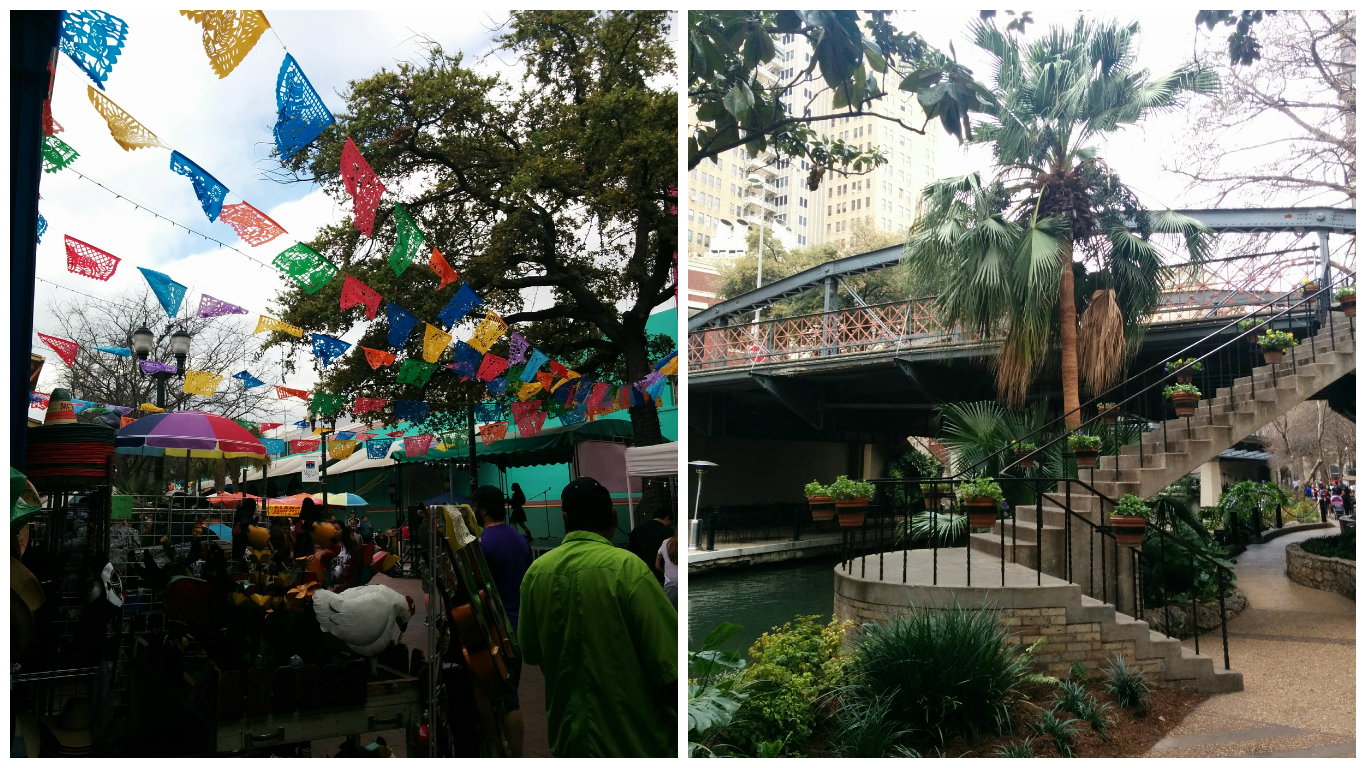El Mercado and the beautiful San Antonio Riverwalk